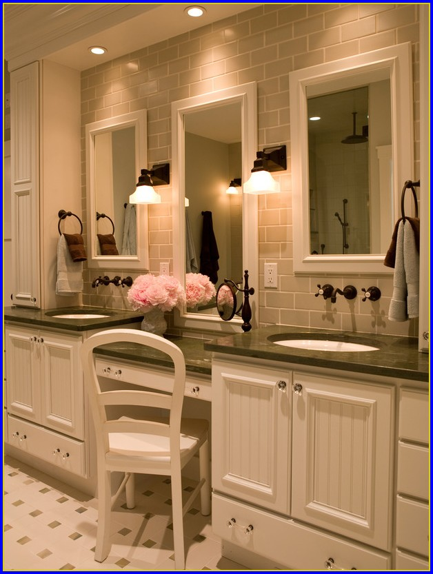 60 Bathroom Vanity With Makeup Area