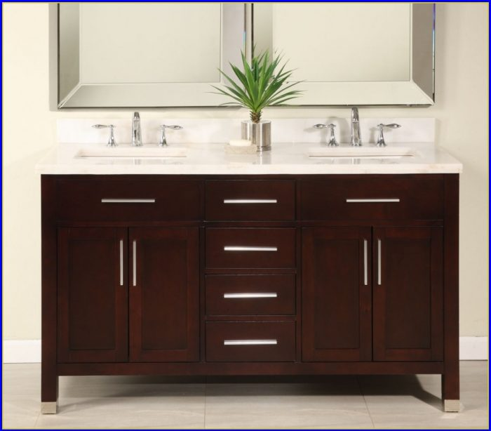 60 Inch Bathroom Vanity Double Sink White