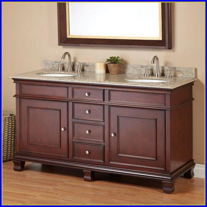 60 Inch White Double Sink Vanity Top