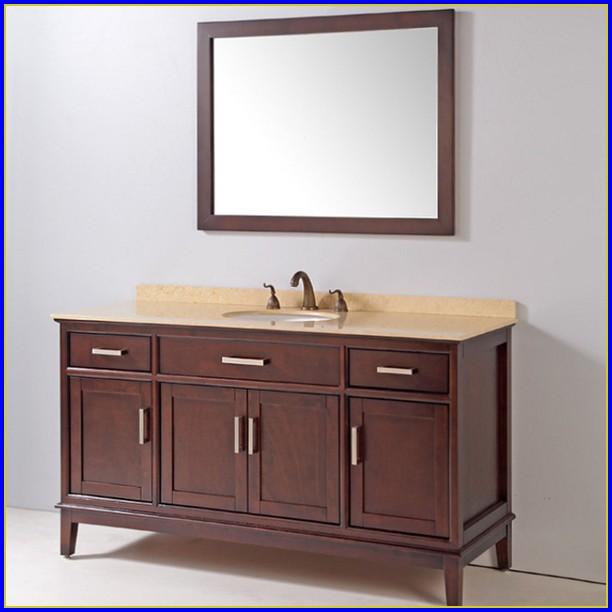 Amelia 60 Inch Single Sink Bathroom Vanity