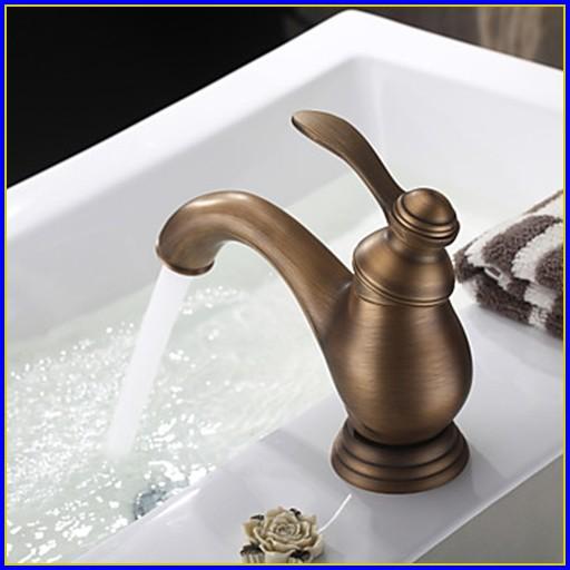 Antique Brass Bathroom Faucet Delta