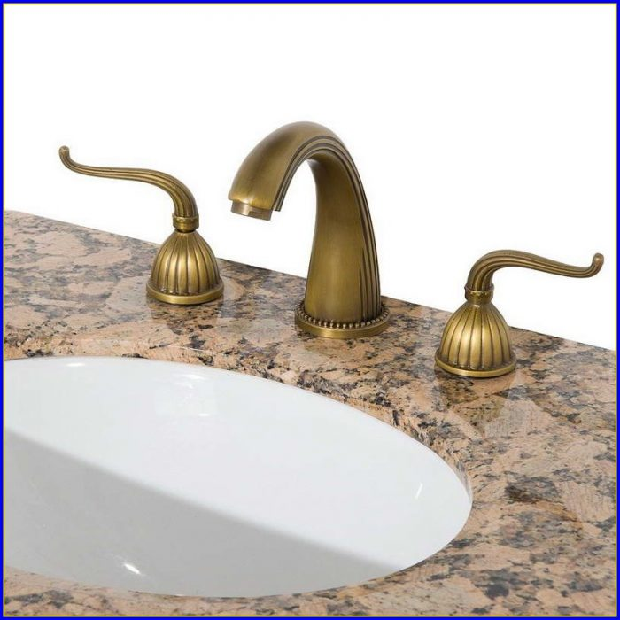 Antique Brass Bathroom Faucets Centerset