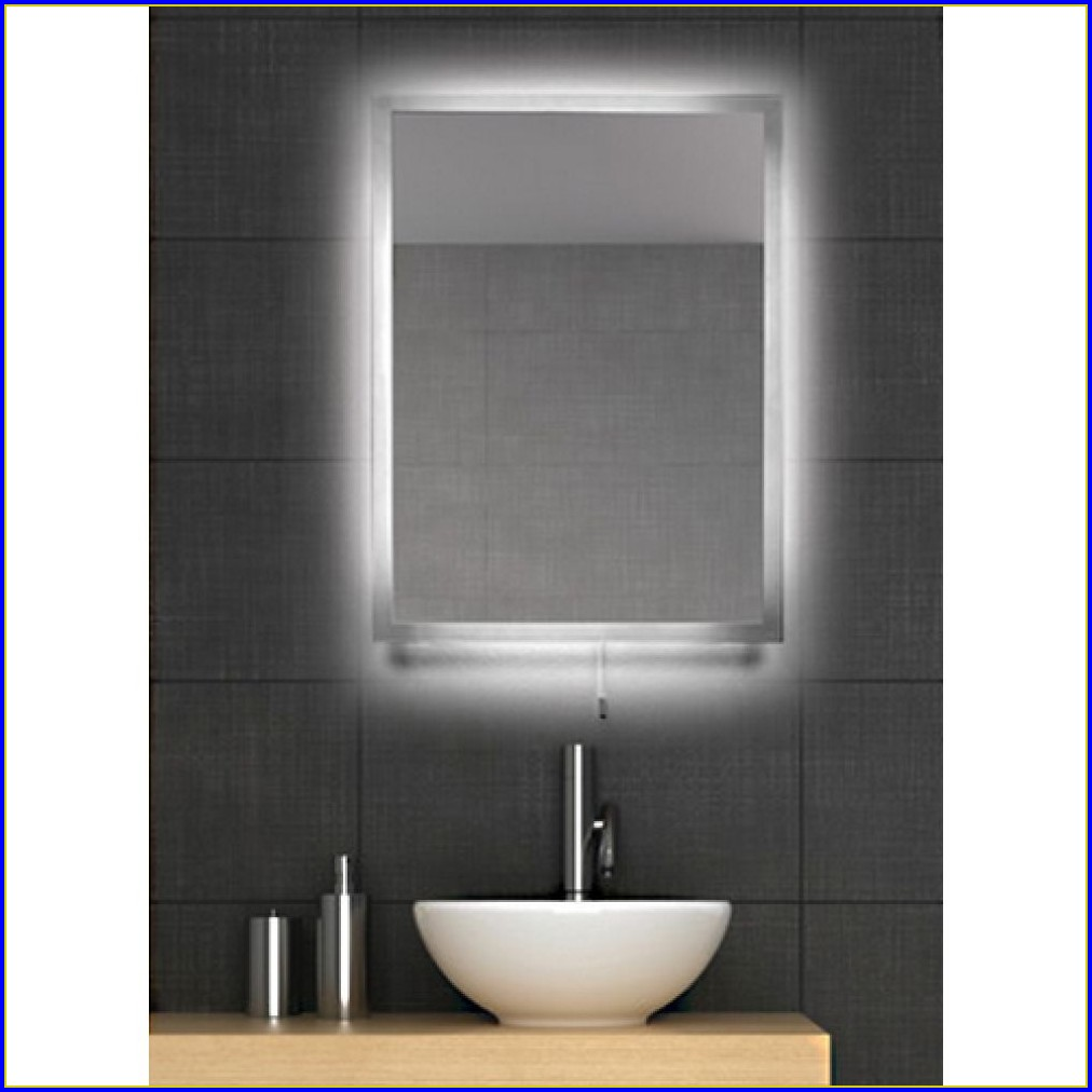 Backlit Bathroom Mirror Cabinet