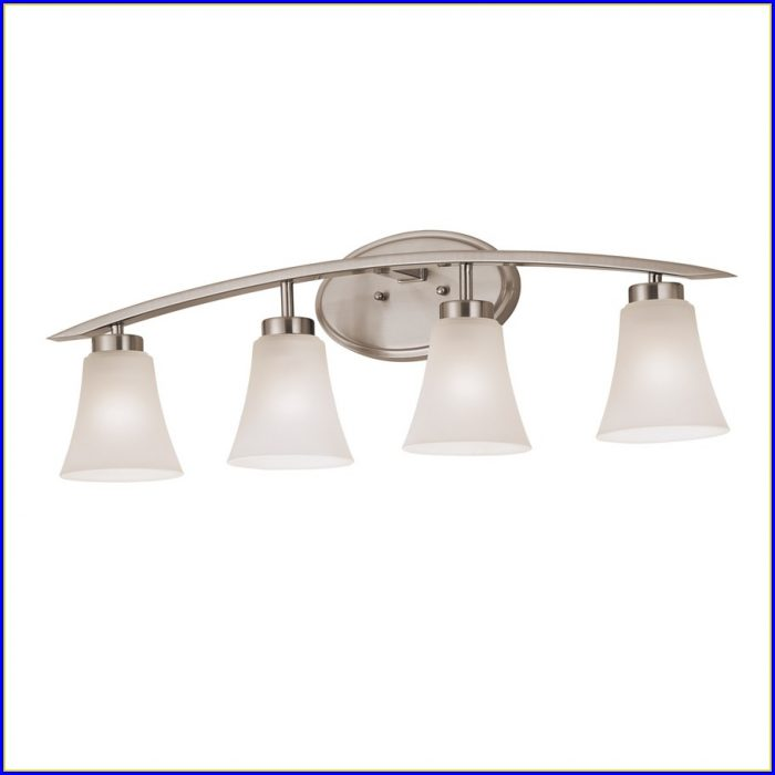 Bathroom 2 Light Fixtures Brushed Nickel