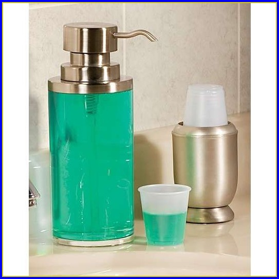 Bathroom Cup Dispenser Brushed Nickel