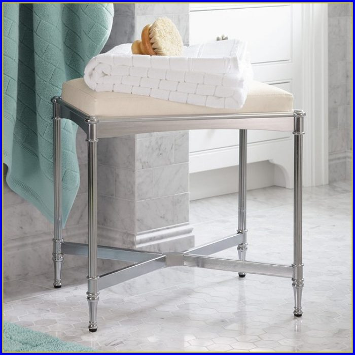 Bathroom Vanity Stool With Casters
