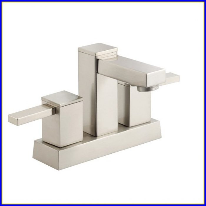 Brushed Nickel Bathroom Faucet Single Hole