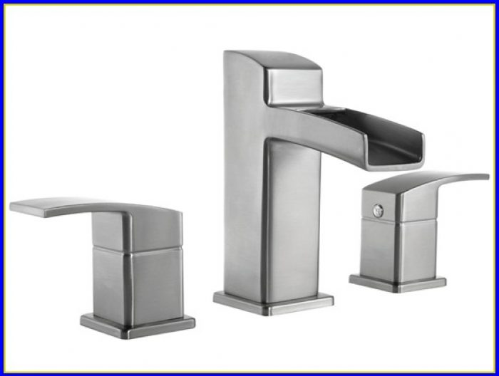 Brushed Nickel Bathroom Faucets Waterfall