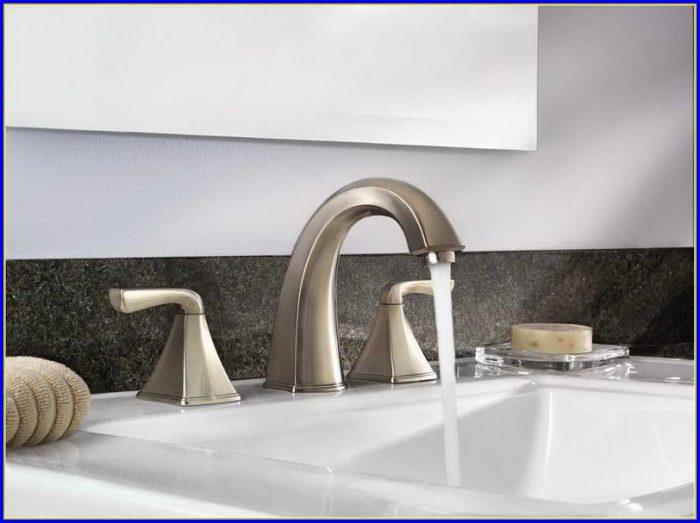 Brushed Nickel Bathroom Faucets Widespread