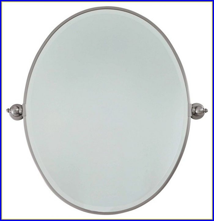 Brushed Nickel Bathroom Mirror Oval