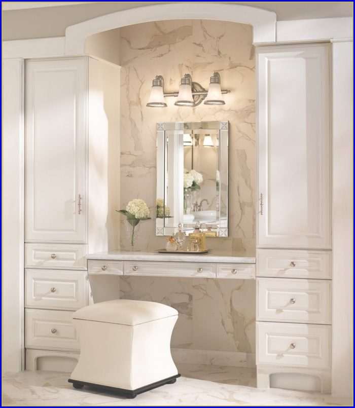 Brushed Nickel Bathroom Mirror With Shelf