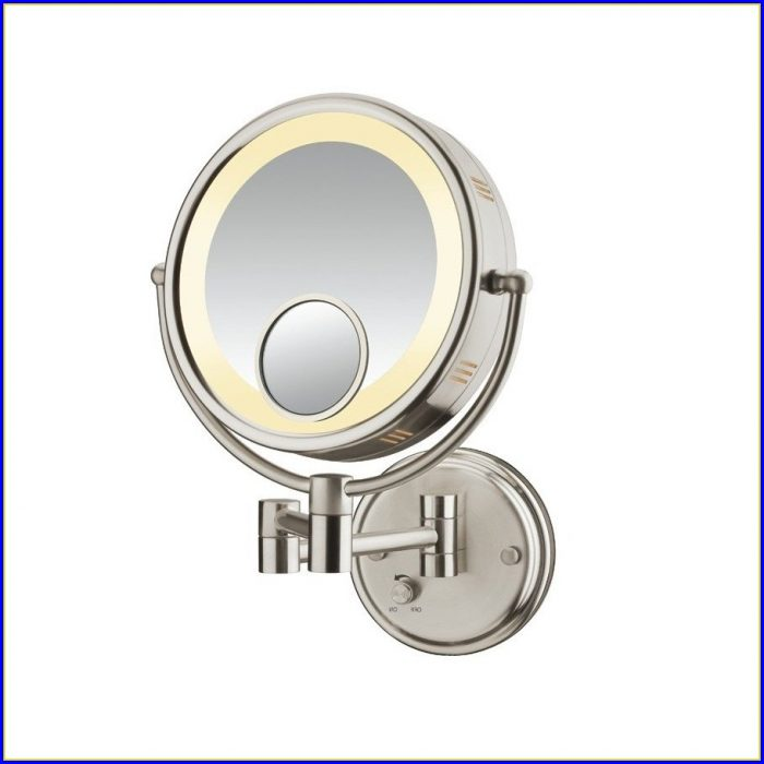 Brushed Nickel Bathroom Vanity Mirrors
