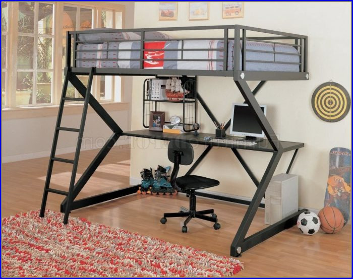 Bunk Bed With Desk And Stairs