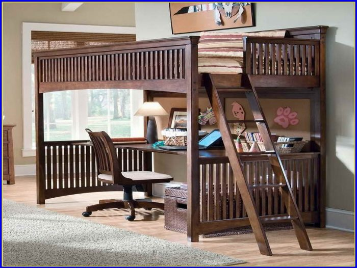 Bunk Bed With Desk And Trundle