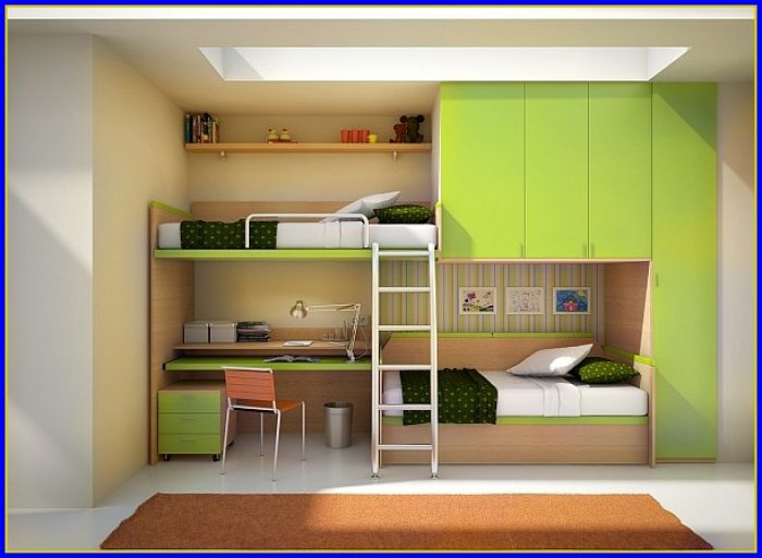 Bunk Bed With Desk Underneath And Stairs