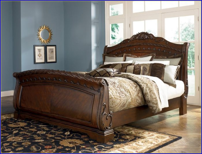 King Sleigh Bed With Storage Drawers