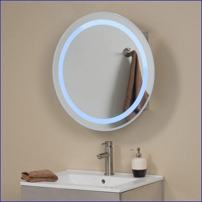 Lighted Bathroom Mirror Cabinet