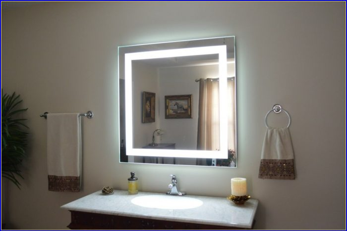 Lighted Bathroom Mirror Wall Mount