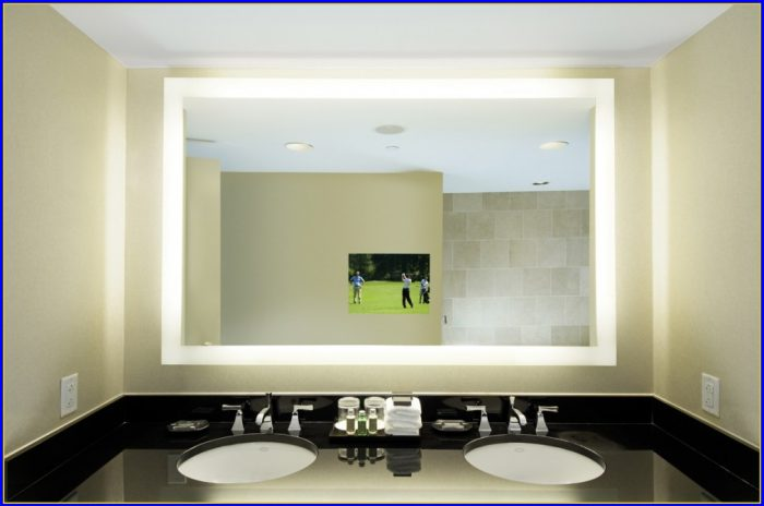 Lighted Bathroom Mirrors Canada