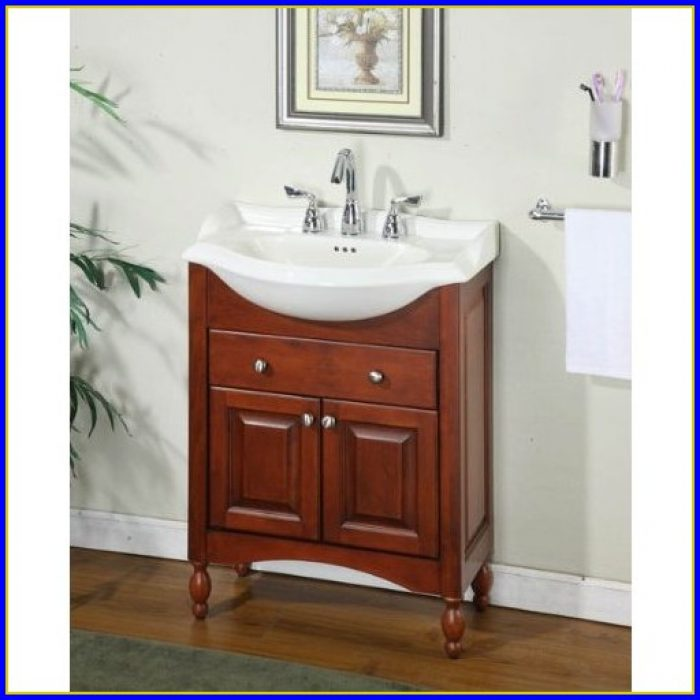 Narrow Depth Bathroom Vanity Base
