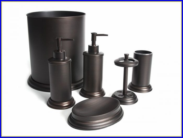 Oil Rubbed Bronze Bathroom Accessory Kit
