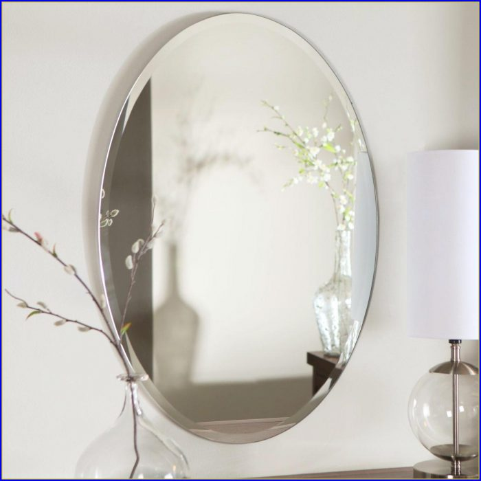 Oval Bathroom Mirror Bronze