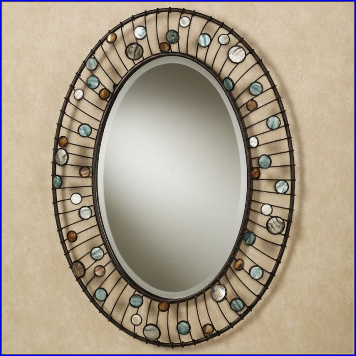 Oval Bathroom Mirror With Shelf