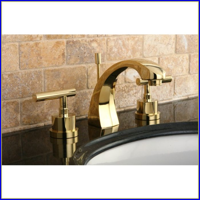 Polished Brass Bathroom Faucet 8
