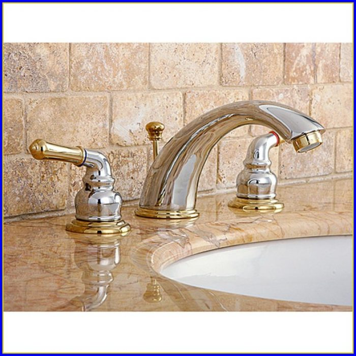 Polished Brass Bathroom Faucets Single Handle