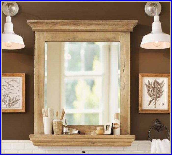 Pottery Barn Bathroom Mirror With Shelf