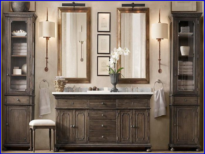 Restoration Hardware Bathroom Vanity Cabinets