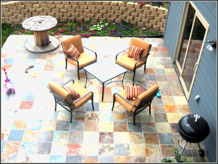 Slate Backyard Patio Ideas