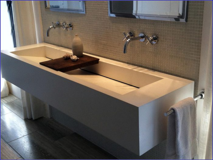 Trough Sink Bathroom Double
