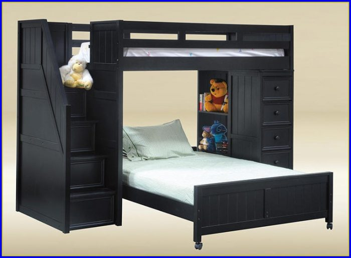 Twin Over Full Bunk Bed With Stairs And Drawers