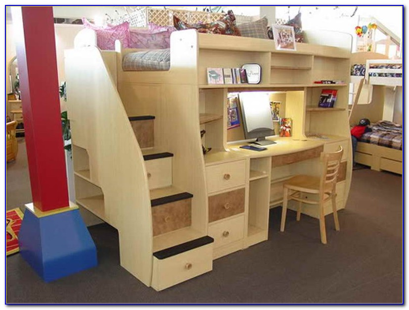 Bunk Beds With Desk Underneath Uk