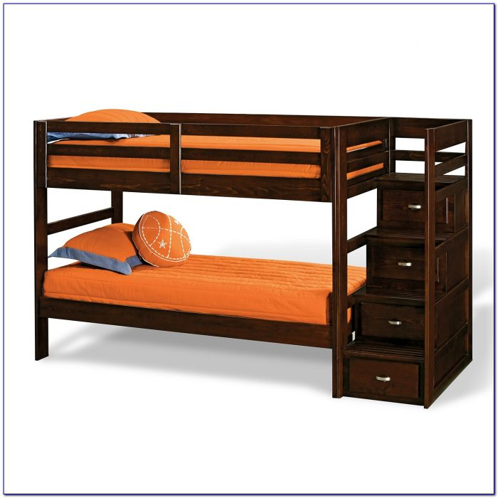 Campus Twin Bunk Bed With Stairs