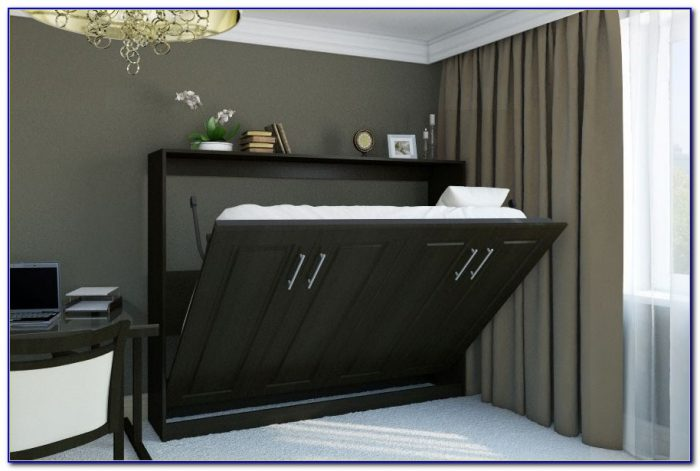 Horizontal Murphy Bed With Desk