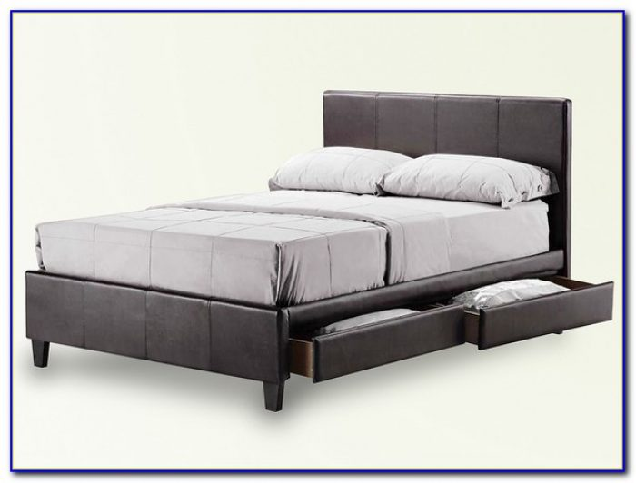 King Bed Frame With Drawers Plans