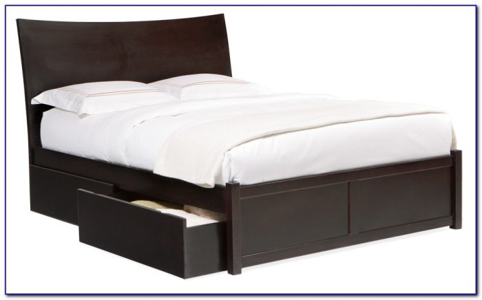 Queen Bed Frame With Drawers Underneath