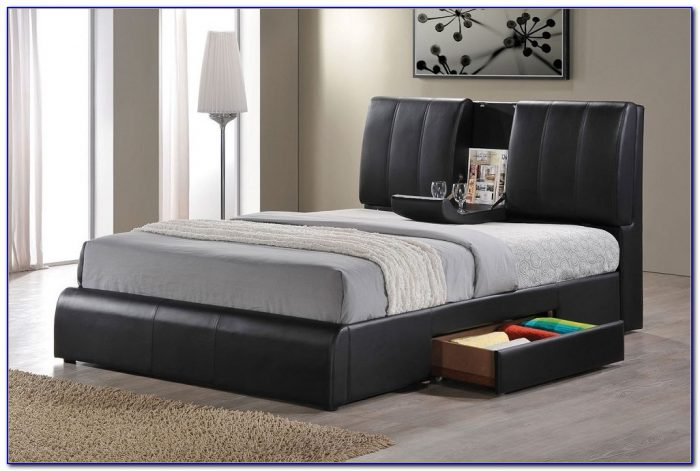Queen Size Bed Frame With Drawers Plans