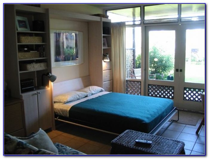 Queen Size Murphy Bed With Desk