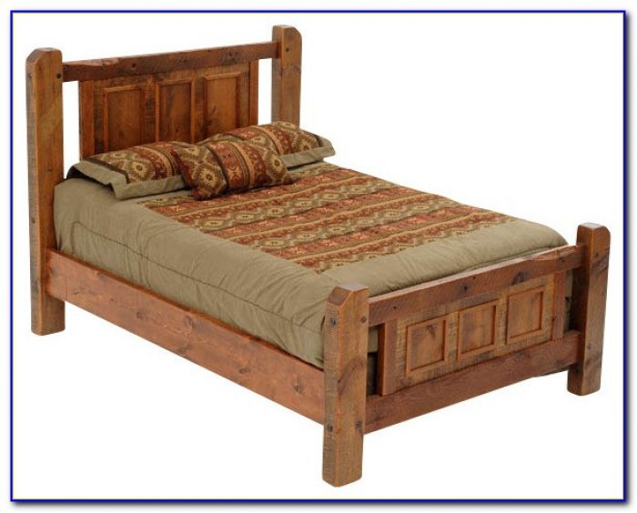Rustic Platform Bedroom Sets