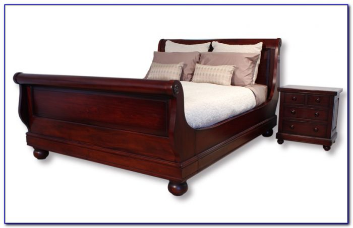 Sleigh Bed King Cherry