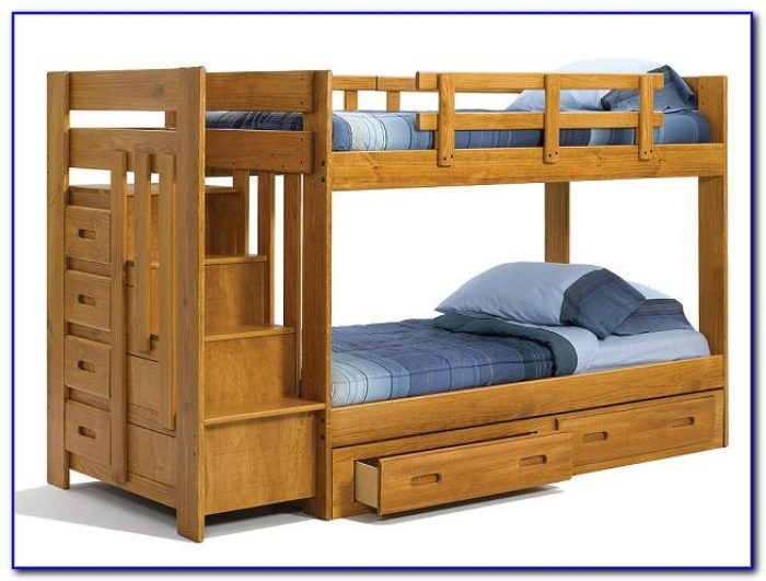 Twin Bunk Beds With Stairs And Drawers