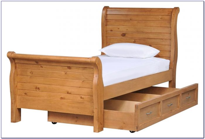 Twin Sleigh Bed Cherry