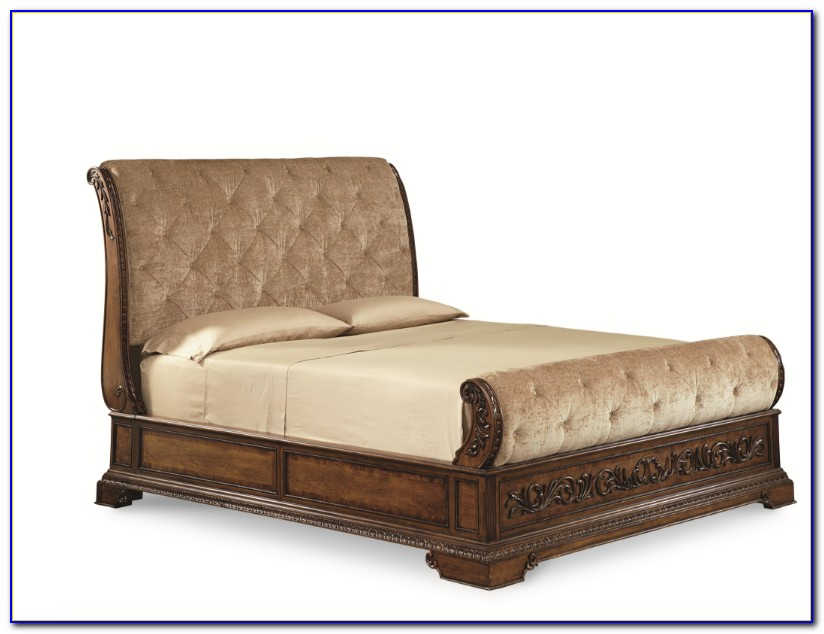 Upholstered Sleigh Bed California King