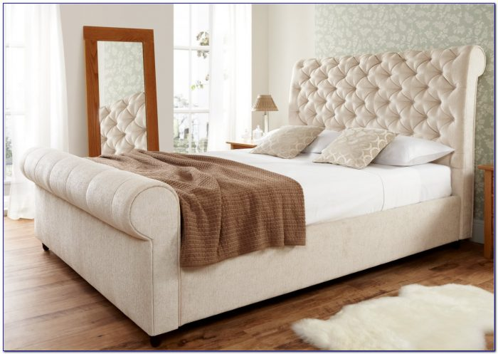 Upholstered Sleigh Bed Frame