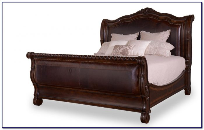 Upholstered Sleigh Bed Queen