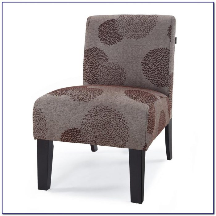 Armless Accent Chair Scarlet Spice