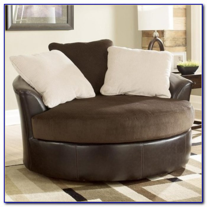 Ashley Furniture Oversized Round Swivel Chair